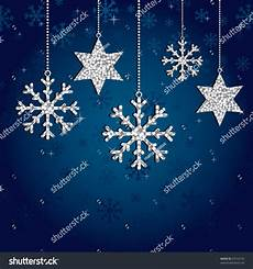 Silver Glitter Snowflake Background