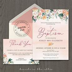 thank you card template free christian printable baptism invitation template with thank you card