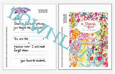 thank you card for teachers template fill in thank you free printable