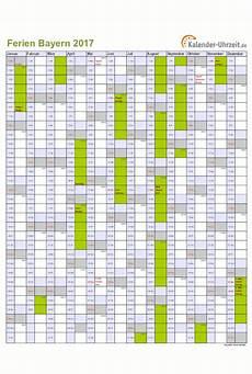 Ferien Bayern 2017 Ferienkalender Zum Ausdrucken