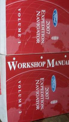 free car manuals to download 2007 ford expedition instrument cluster 2007 ford expedition lincoln navigator truck shop repair service manual set new ebay