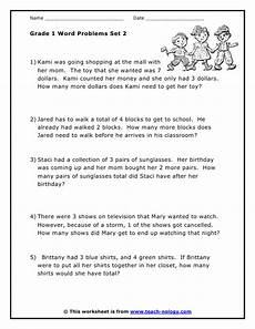 free math word problem worksheets for grade 1 11286 grade 1 word problems set 2