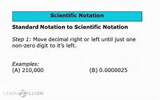 convert from standard to scientific notation for teachers learnzillion
