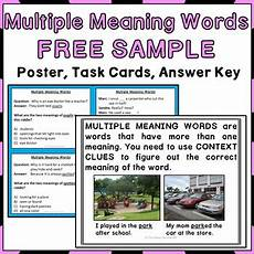 multiple meaning words activities freebie by the happy
