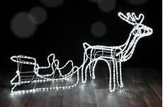 rentier beleuchtet rentier beleuchtet led mit schlitten 145cm weihnachtsdeko