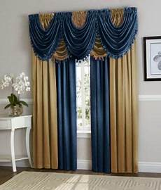 Navy And Gold Curtains by Hyatt Curtain Set Navy Blue Gold Curtains In 2019