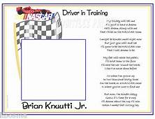 NASCAR Racing Driver In Training Baby Poem Print
