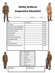 usmc uniform inspection sheet ppt utility uniform inspection checklist powerpoint