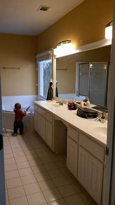 bathroom how can i replace a double vanity with two single vanities home improvement