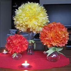 tissue paper centerpieces wed event paper fabric