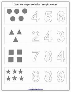 worksheet counting shapes coloring numbers keywords free printable pdf preschool worksheets