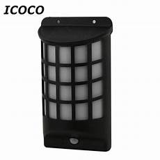 icoco solar power human motion sensor light infrared induction l wall mounted