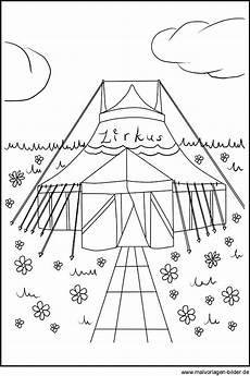 Kostenlose Malvorlagen Zirkus Zikrus Zirkuszelt Ausmalbilder Und Malvorlagen