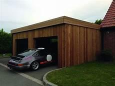construction garage bois sur mesure toit plat autoclave