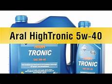 моторное масло aral hightronic 5w 40