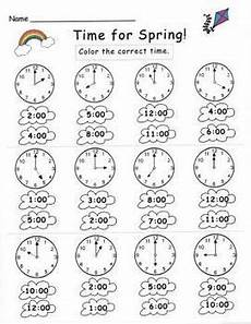 time on the hour worksheets for kindergarten 3611 kindergarten telling time set preschool math math for kindergarten math