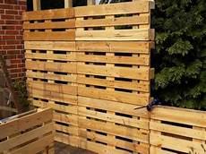 Paletten Recycling Sichtschutz Bauanleitung Zum Selber