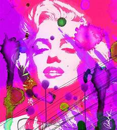 pretty contemporary 43x48 marilyn pretty in pink signed abstract