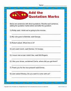 grammar worksheets using quotation marks 24941 add the quotation marks worksheet punctuation worksheets quotation marks quotations