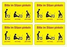 4 x bitte im sitzen pinkeln toiletten wc aufkleber humor