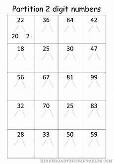place value and partitioning worksheets 5642 partition 2 digit numbers worksheet free printables number worksheets worksheets free