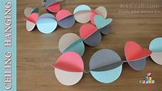 Home Decor Ideas Using Paper by Diy How To Make Paper Quot Ceiling Wall Hanging Quot Decoration