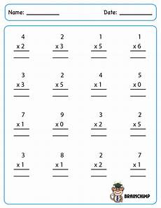 multiplication worksheets single digit 4589 multiplication brainchimp