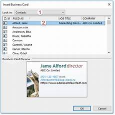 card template outlook how to add business card to emails in outlook