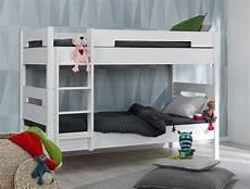 lit superposé lit superpos 233 enfant milo blanc 90x190 avec 2 matelas