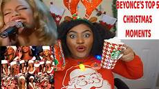 top 5 beyonce christmas moments reaction merry christmas youtube