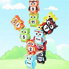 free shipping educational big size balance beam numbe study owl stack happy toys for