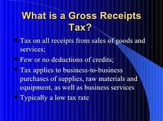 gross receipts tax power point