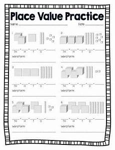 base 10 block place value practice place values place value blocks fourth grade math