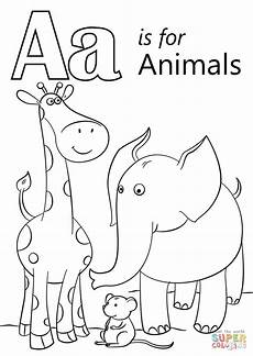colouring pages for adults of animals letters 17309 letter a is for animals coloring page free printable coloring pages