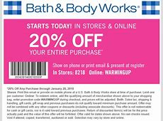 bath and body coupons body works coupons