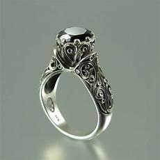 the enchanted princess black diamond 14k gold engagement ring