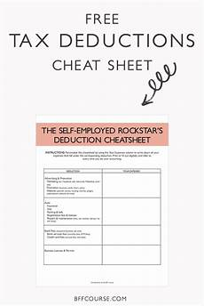 the epic sheet to deductions for self employed rockstars
