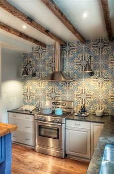Pictures Of Kitchen Backsplashes With Tile Create A Decorative Kitchen Backsplash With Cement Tiles