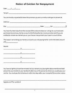 Apartment To Rent For A Day by 45 Eviction Notice Templates Lease Termination Letters