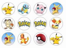 pokemon edible cupcake toppers for sale in dalkey dublin from flour power