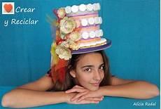 tocado sombrero carnaval crear y reciclar