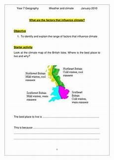 year 7 factors affecting climate sen teaching resources