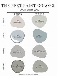 best paint colors to go with oak curio design studio