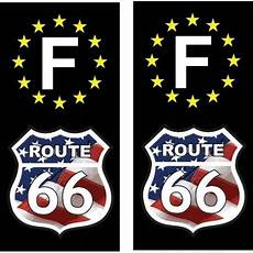 stickers plaque immatriculation moto 2 stickers autocollant plaque d immatriculation route 66