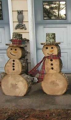 decoration noel exterieur a fabriquer 17 d 233 corations de noel diy avec des rondins de bois no 235 l