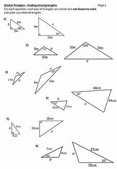 similar triangles worksheet by durhotter teaching resources tes