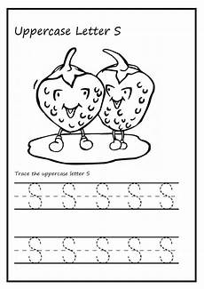 Uppercase Letter S Worksheet Printable Preschool And