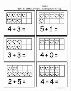 free kindergarten math worksheet for kindergarten addition