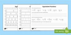 fraction worksheets primary resources 4069 equivalent fractions worksheet primary resources