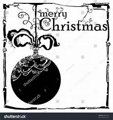 merry christmas card black and white vintage stock vector illustration 88993303